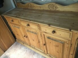 Waxed pine sideboard for sale. Good condition£50