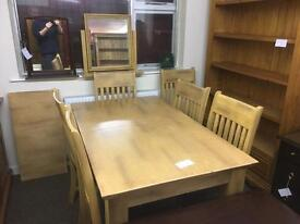 Extending dining table, 6 chairs and leaf * free furniture delivery*