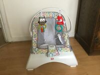 Fisher price woodland friends comfort curve bouncer as new