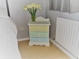 Solid Wood (painted) Bedside Drawers