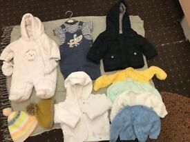 Bundle of baby boys clothes 0-3 months old