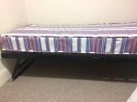 Iron single Trundle bed frame with mattress