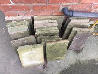 Paving/wall top slabs