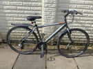 mens 20in raleigh hybridaluminium bike with new lights ready to ride