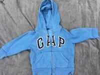 Gap 2 yrs cotton blue hoodie jacket