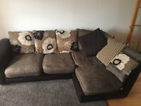 Corner sofa material with leather arms