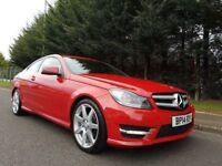 JULY 2014 MERCEDES-BENZ C220 CDI COUPE AMG SPORT EDITION AUTOMATIC 7G-TRONIC FIRE OPAL STUNNING CAR