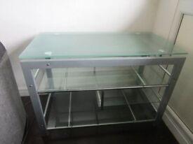 Glass display desk table