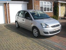 (2007) FORD FIESTA 1.4 TDCI STYLE MET/SILVER 5DOOR (FSH ONLY 69000 MILES £30 A YEAR ROAD TAX)