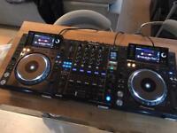 2 x Pioneer CDJ 2000 Nexus Decks + DJM 900 SRT Serato Mixer