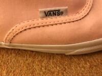Light pink Vans trainers/pumps.