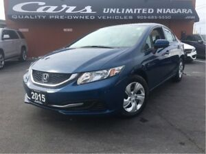 2015 Honda Civic LX | 1 OWNER | LOW MILEAGE | CAMERA | HEATED SE