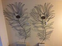 "Steel Flower wall art-decoration, home decoration, sculpture 48"" x 25"""