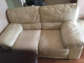Sofas cream leather