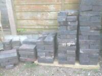 Blue bricks/pavers reclaimed
