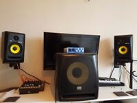 Krk 5 pair / krk 10s / Audiobox Dac interface / wall mounts