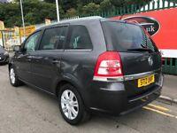 2012 (12 reg) Vauxhall Zafira 1.6 i VVT 16v Design 5dr MPV 7 Seater Low Miles
