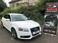 2011 AUDI A3 BLACK EDITION FREE 2 YEARS WARRANTY S/S 2.0 TDI S LINE WHITE 5dr diesel gtd fr s3 gtd +
