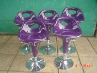 FIVE RISE AND FALL STOOLS