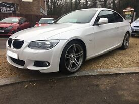 2011 BMW 320D M-SPORT COUPE ..... 181 BHP ...... PEARL WHITE ...... FACELIFT ...... P/X WELCOME