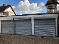 Commercial Double Garage with light and power and security shutters secure with easy access