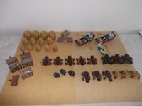 Large Collection 51 Early Learning Centre (ELC) Pirates, Papo Boat plus Buildings