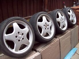"GENUINE 17"" MERCEDES AMG ALLOYS - 5 X112 - VW GOLF MK5/6/7 - VX T4 - MERC VIT0 -"
