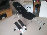 Exercise bed/chair and stepper