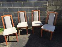 4 Dinning Room Chairs - Shabby Chic Project