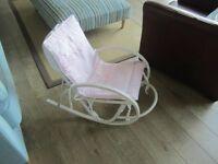 Ruggeri bamboo infant/baby rocker rocking chair