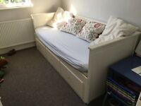Ikea Hemnes Day Bed in white with two mattresses