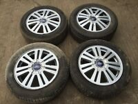 """Ford Mondeo / focus / transit connect / c max 16"""" alloy wheels - good tyres"""