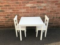 Children's Wooden Table and 2 Chairs