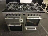 Brand New LEISURE Cookmaster 100 CK100F232S 100 cm Dual Fuel Range Cooker - Silver & Chrome