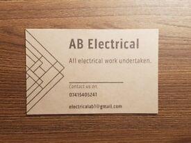 ALL ELECTRICAL WORK UNDERTAKEN