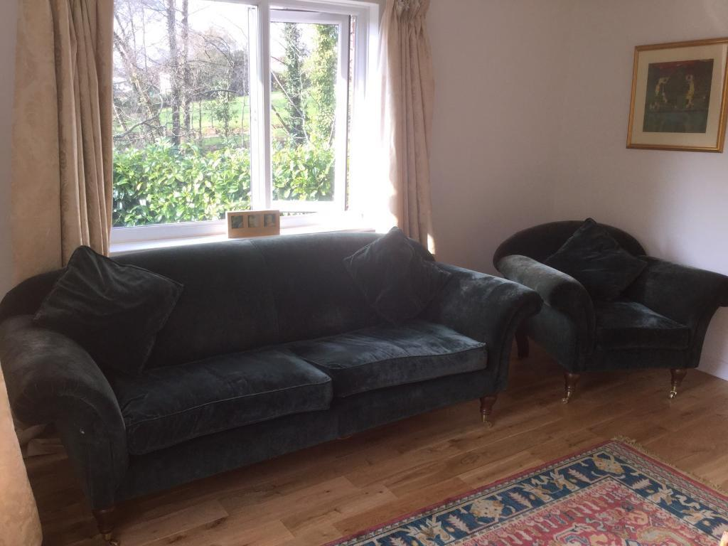 browning furniture. Green Velvet Browning Sofa And Chair (sofa Workshop) Furniture
