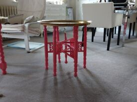 Two Brass Topped Moroccan Tables