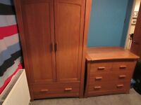 MAMAS AND PAPAS OCEAN WARDROBE AND CHEST OF DRAWERS/CHANGER IN SOLID OAK