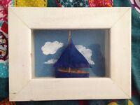 Boat in frame