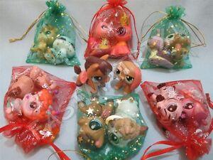 Littlest Pet Shop LPS LOT 3 RANDOM Walkables Dog Cat Horse..+ Surprise Gift Bag!