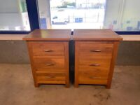 Solid American Oak Bedside Tables, Excellent Condition and Quality, can deliver