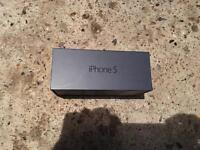 Black iPhone 5 16gb Box ONLY