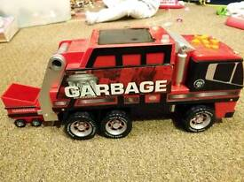 Lights and sound moving rubbish truck toy