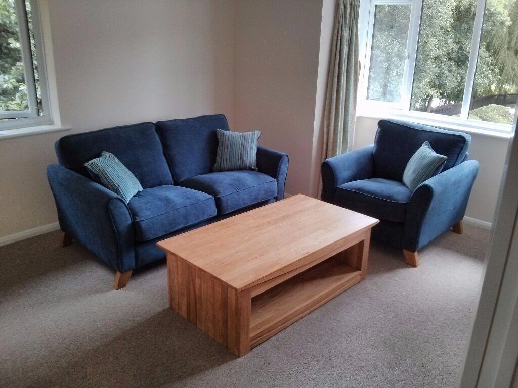 Oak Furniture Land Jasmine Armchair In Navy Blue Rare Colour