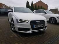 Audi A4 s line white