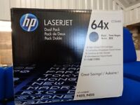 HP 64X Black Toner Twin Pack - High Capacity CC364XD