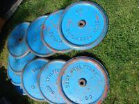 300kg gym plates steel body sculpture ,york,strongman