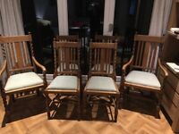 Solid Oak ding chairs