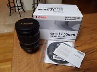 CANON EFS 17-55MM F/2.8 IS USM Lens for sale