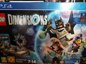 Ps4 lego dimensions with exclusive supergirl and extras
